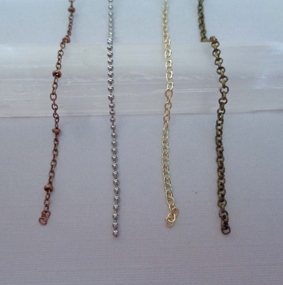 Add-on Chain / Copper Rolo / Gold Beaded / Sterling Silver Cable / Stainless Steel Ball / Finished Chain