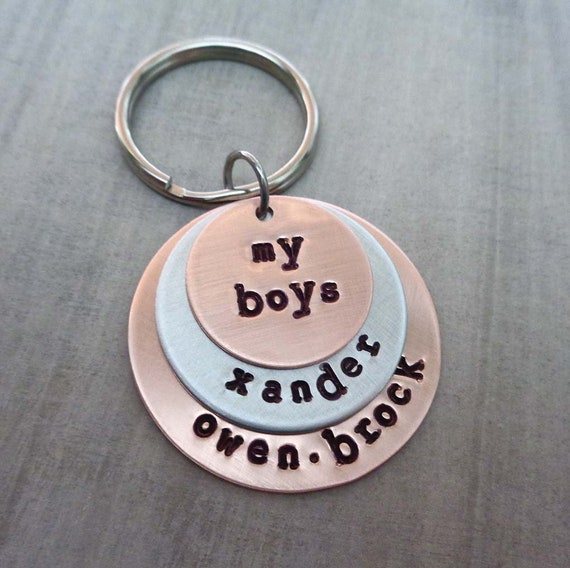 My Boys Keychain - Personalized Names - Gift for Dad - Custom Kids Names - Fathers Gift - Mothers Day Gift - Love My Boys