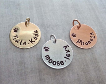 Add on Pet Name Charm - Personalized Cat Name - Custom Dog Name