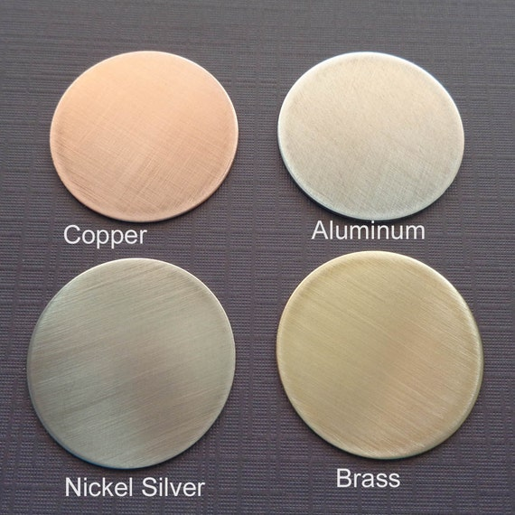 Add-on Disc - Copper Aluminum Nickel Brass Disc - Personalized Disc - Hand-stamped Disc