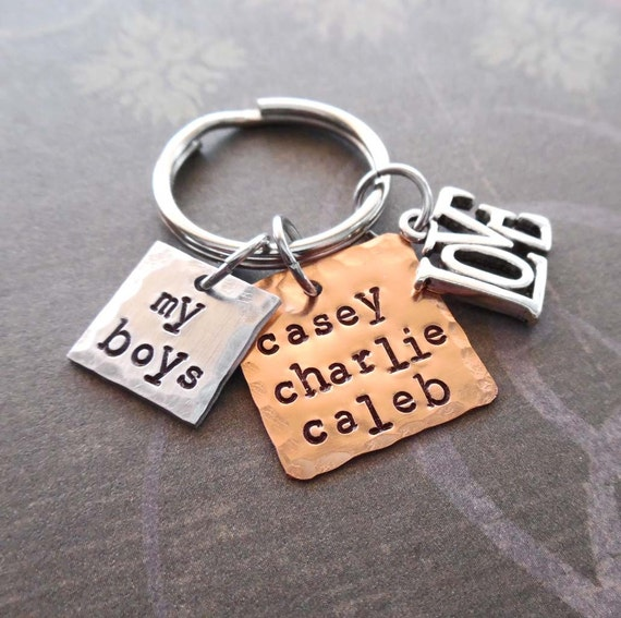 My Boys Keychain - Love My Boys Personalized Mom Gift - Handmade Gift
