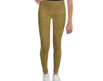a23c7cb91e3ea Yer a Wizard Magical Print Youth Leggings in Yellow + Black | Fandom  Fashion | Unique Pattern Leggings | Witchy Leggings
