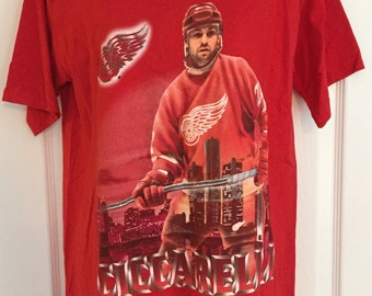 Vintage 1990s Dino Ciccarelli Detroit Red Wings t-shirt