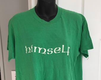 Vintage 1980s Himself green t-shirt 50/50 Screen Stars