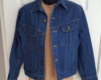 Vintage 1980s super rad Lee blue jean denim jacket