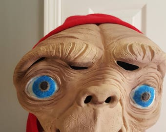 Authentic 1982 Don Post E.T. Full Head Latex Universal City Studios vintage mask FREE SHIPPING