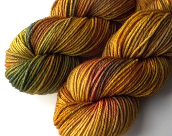 Rambouillet Worsted Yarn Hand Dyed - Amber Wheatfields