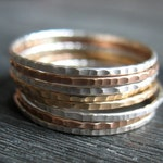 Stacking Rings - Hammered 20 Gauge - Create Your Own Set