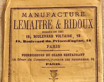 Rare French Silver Brochure 1860