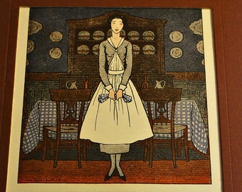 Beautiful Vintage French Print