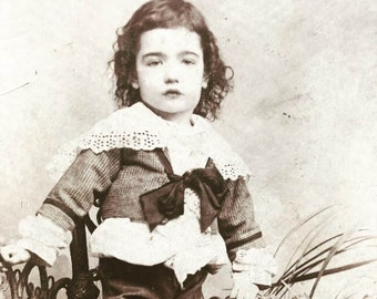 Beautiful Cabinet Photo of Young Boy
