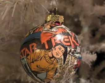 Star Trek TOS Comic Christmas Ball Ornament