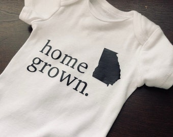 FREE SHIPPING Home Grown Onesie - All States Available - Many Colors and Sizes