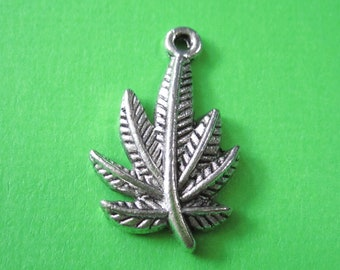 50 Mixed random colour marijuana acrylic leaf charms AL8