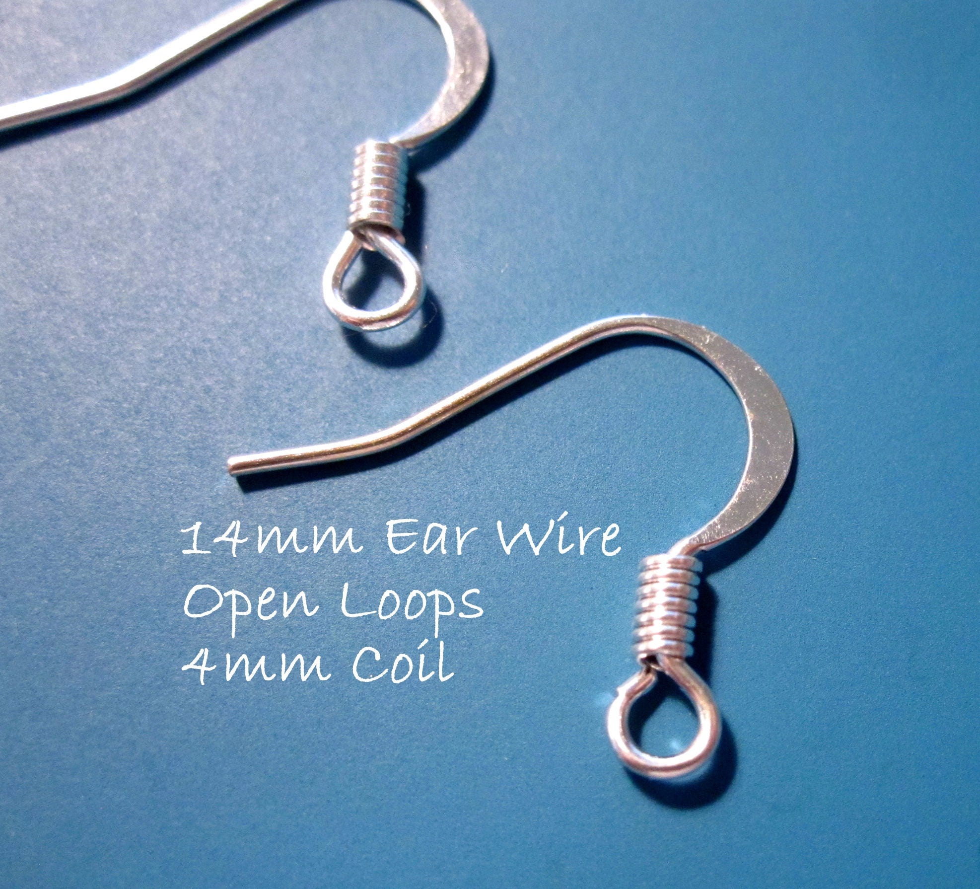 50% Off Earwires 30pcs Ear wires Silver-plated 14mm Flat Fishhook ...