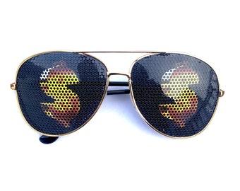 aa16219887 Golden Dollar Sign Aviator Glasses, Multiple Styles Available