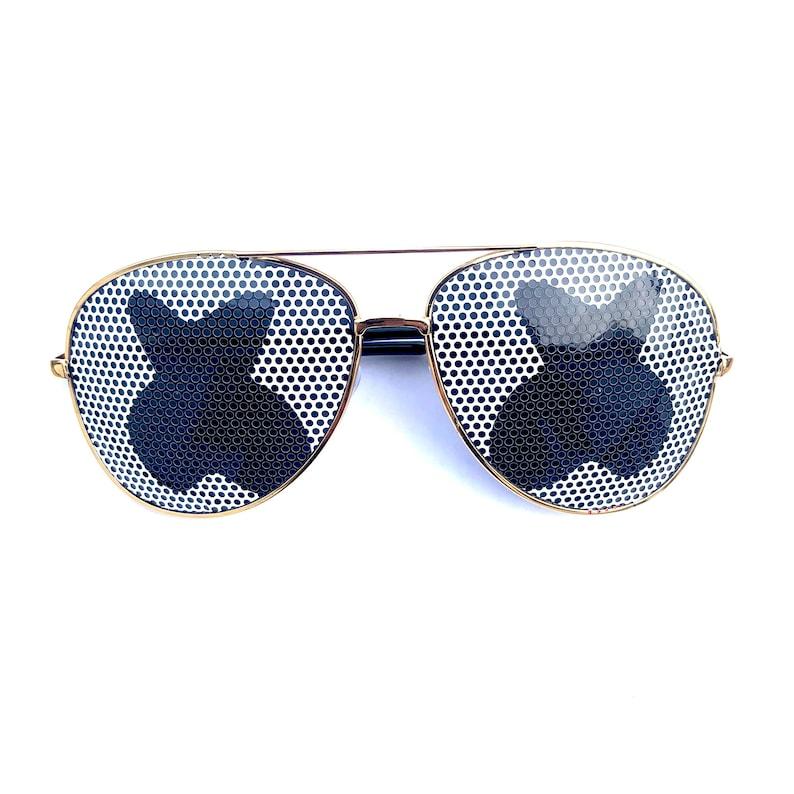 Marshmello DJ Eyes Festival Sunglasses Multiple Styles Clear Aviator Gold