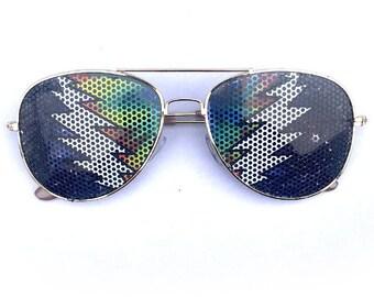 cosmic tiedye aviator sunglasses, Multiple Styles Available