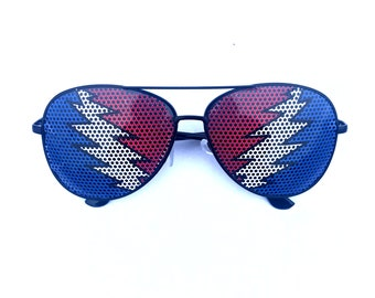 Uncle Sam bolt Graphic Aviator Sunglasses, (other styles available!)