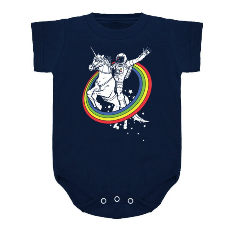 Baby one piece snapsuit Epic Combo 23 Astronaut Riding a image 0