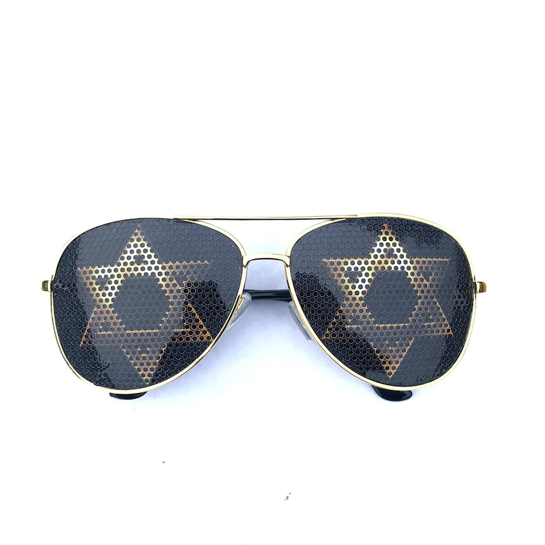 Golden Star of David Graphic aviator Sunglasses other styles Delux Aviator Gold
