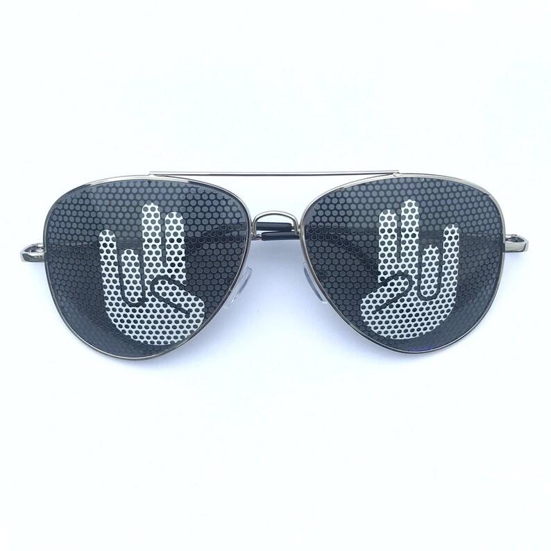 Shocker Hand Graphic Aviator Sunglasses other styles Polarized Avi Silver