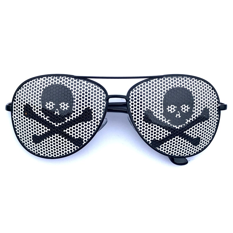 Inverted Pirate Flag Skull Aviator Sunglasses Other Styles image 0