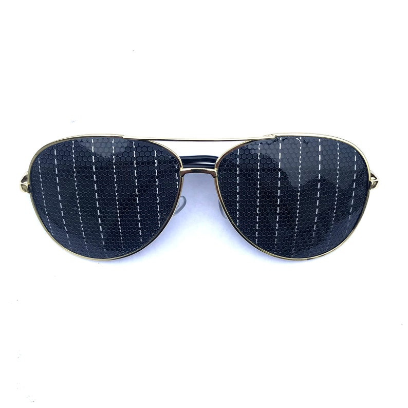 Pin-striped pattern Graphic Sunglasses multiple frame styles image 0