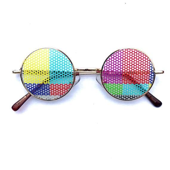 TV Test Pattern Round John Lennon Glasses