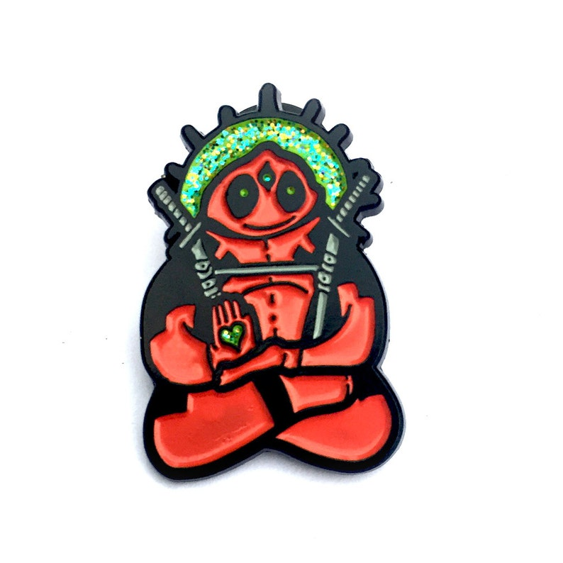 limited edition Spirit Animal Deadpool soft enamel hatpin with image 0