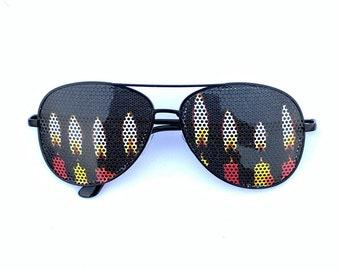 Birthday/chanka canles graphic aviator sunglasses