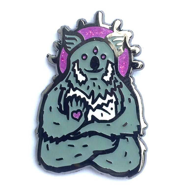 limited visionary Spirit Koala soft enamel hatpin with glitter image 0