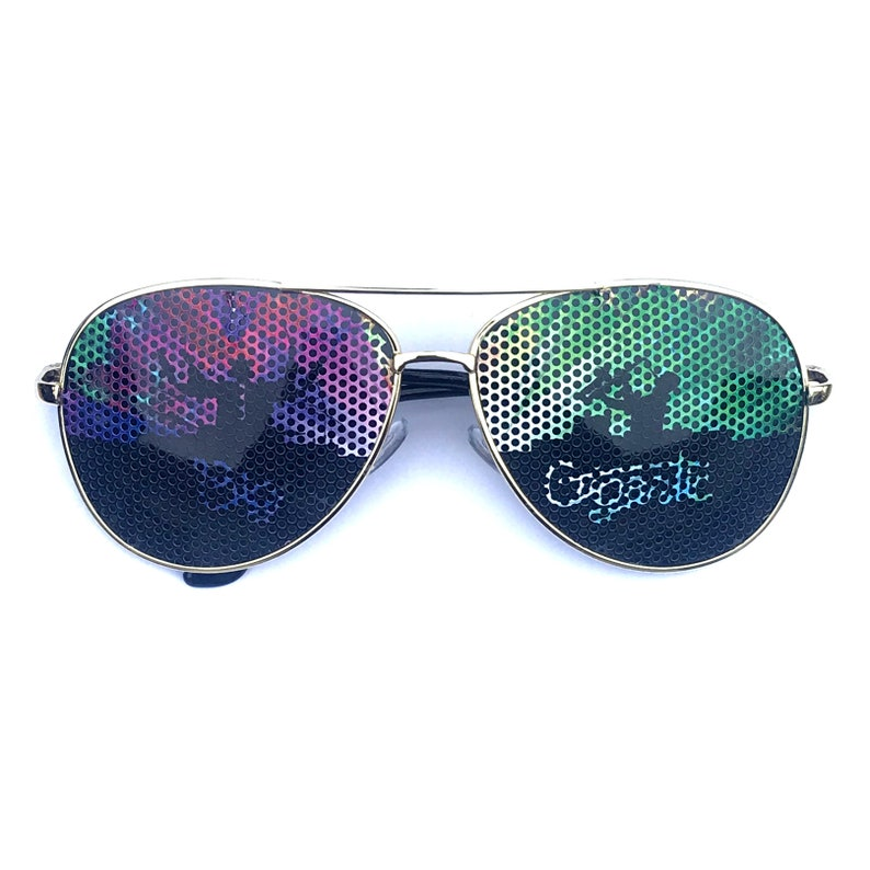 Big Gigantic Trippy Graphic Polarized Aviator Party Festival image 0