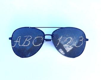 ABC 123 teachers aviator sunglasses (multiple styles available!)