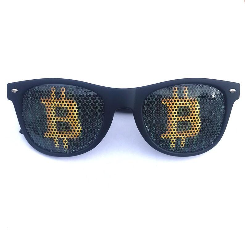 Bitcoin cryptocurrency Black wayfarer Sunglasses image 0
