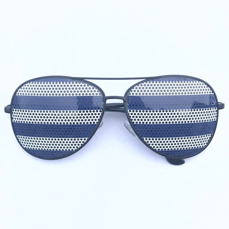 Blue Nautical Polo Striped Graphic Aviator Sunglasses other image 0