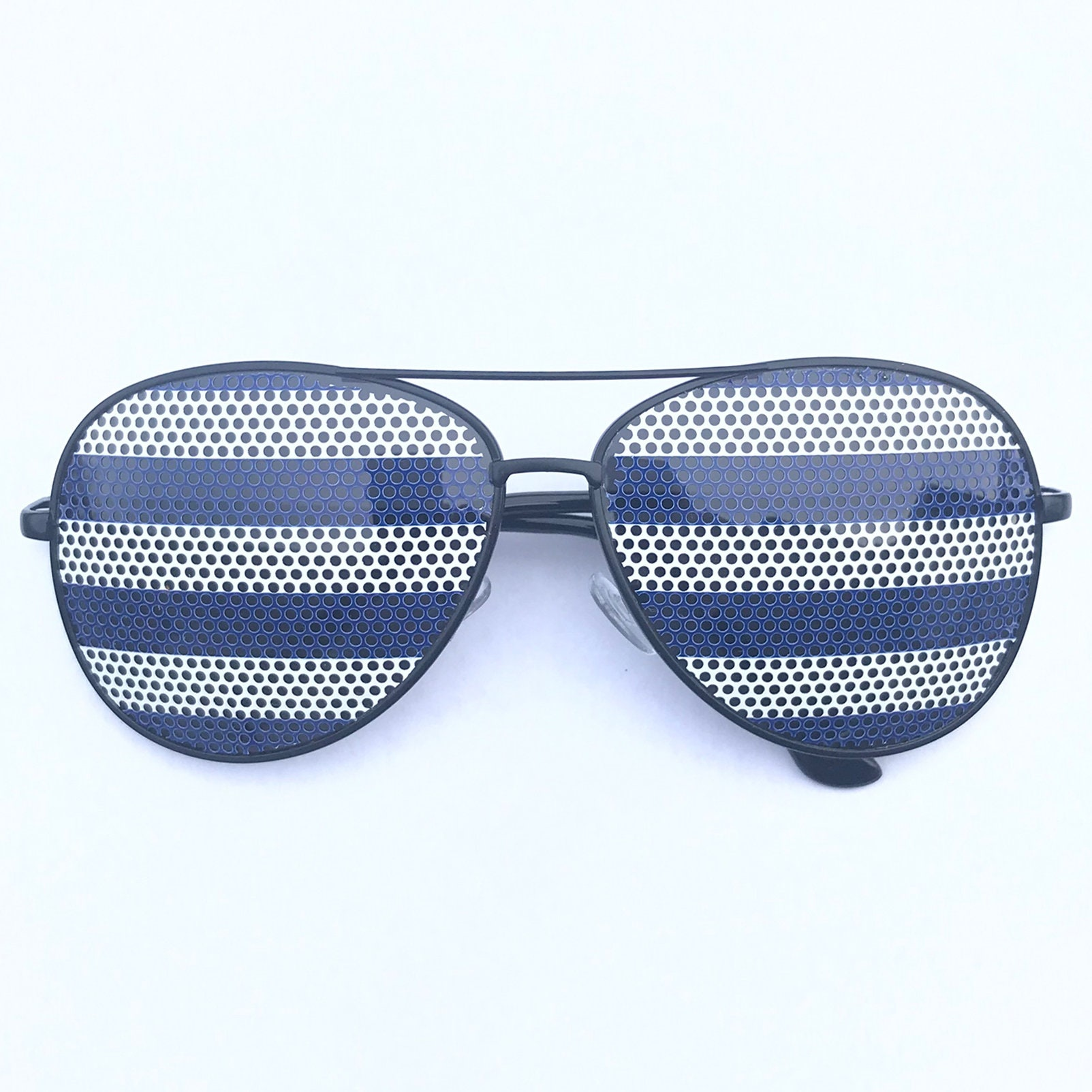 9f061ca5d8 Blue Nautical Polo Striped Graphic Aviator Sunglasses (other styles  available)