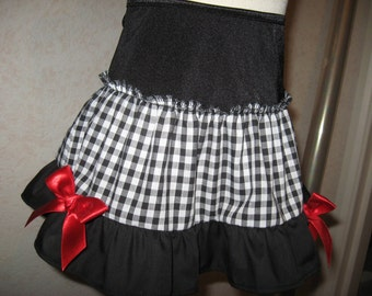 Festival Black white spotted Skirt Gothic Lolita Party Retro fun Alternative UK
