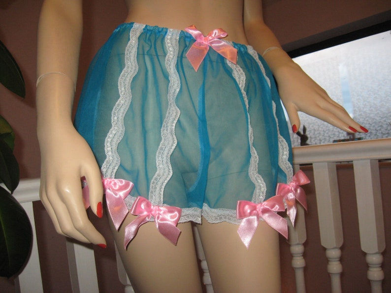 Sheer soft nylon green pink lace knickers Panties Adult feminine Lingerie French Glamour Baby pink blue lilac white yellow black Sequoia