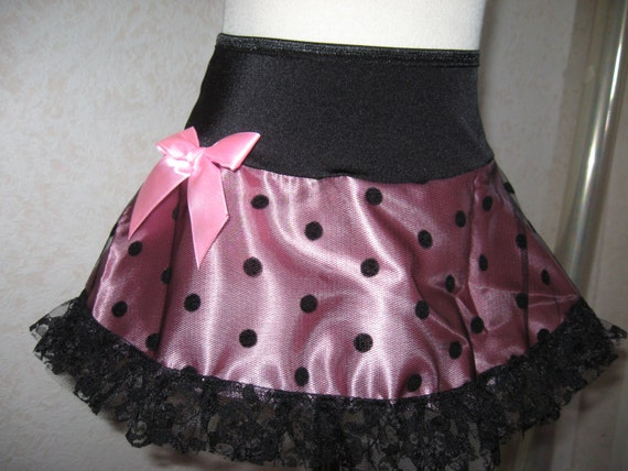 NEW Black white spotted Frilly Mini Skirt Gothic rock Lolita  All sizes Party