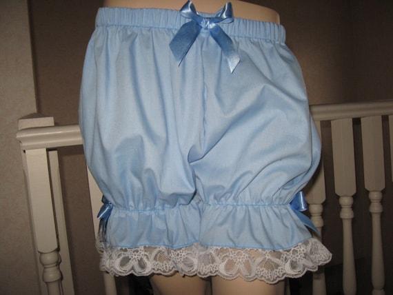 New Blue Black white purple velvet  Sissy Shorts Bloomers Pantaloons Party Dance