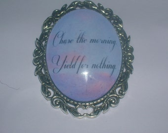 chase the morning repo the genetic opera quote brooch