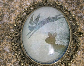 Watership down pendant, Fiver and the Black Rabbit