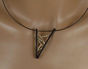 Brass oxidized pendant, gift, unique