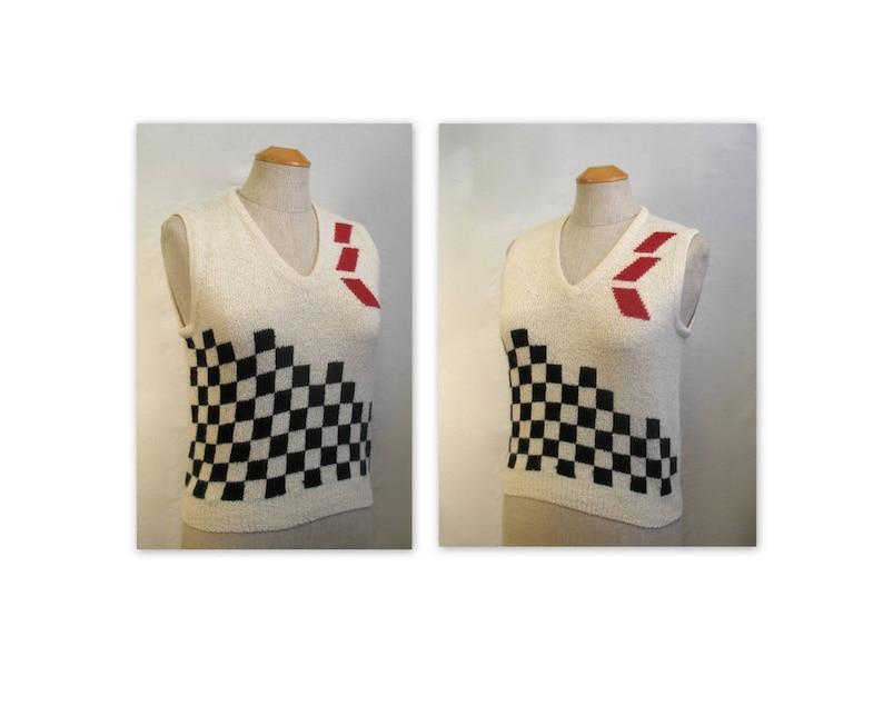Vintage 80s Silk Angora Sweater Vest M by Organically Grown image 0