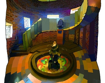 Fountain Staircase, Royal Shakespeare Theatre (Ghost Light)