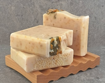 Sunflowers Soap - Handcrafted Exfoliating Sunflower Herbal and Honey Bar Soap