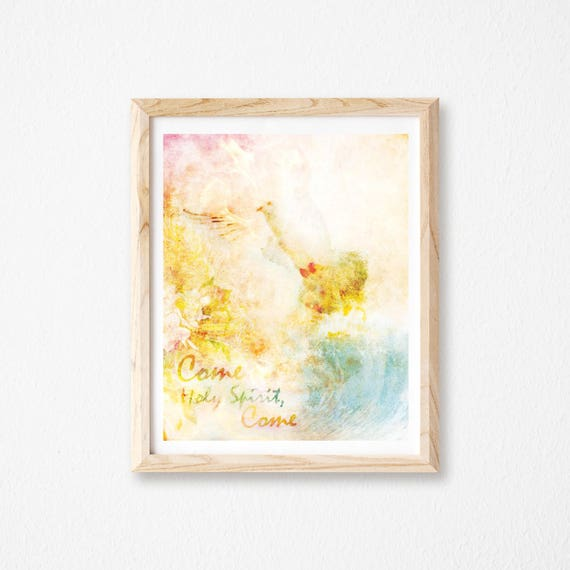 Holy Spirit Dove Christian Wall Art Etsy