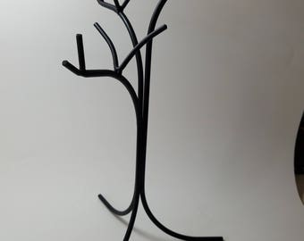 Hand Crafted Wrought Iron Necklace/Jewelry Display Tree Amish Made in the USA  Holds 12 plus necklaces Sturdy