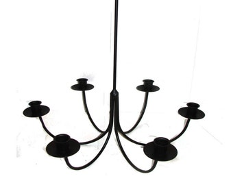 wrought iron chandelier etsy